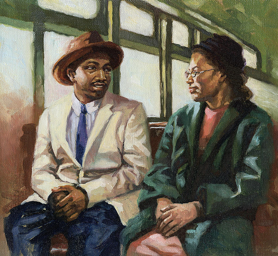 Martin And Rosa Up Front Painting  - Martin And Rosa Up Front Fine Art Print