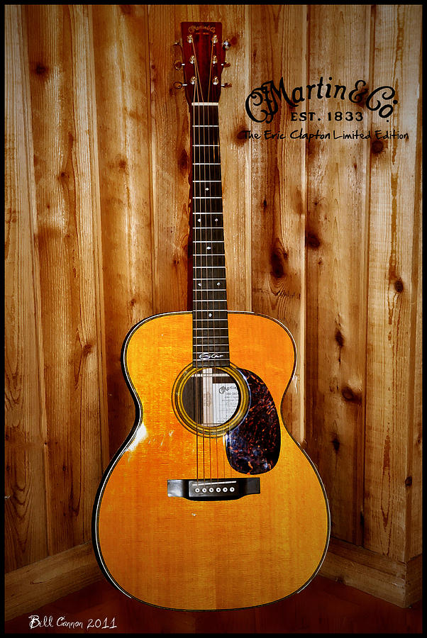 Martin Photograph - Martin Guitar - The Eric Clapton Limited Edition by Bill Cannon