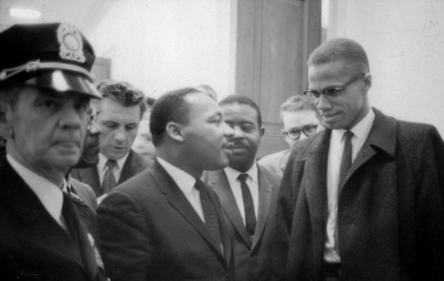 Martin Luther King Jnr 1929-1968 And Malcolm X Malcolm Little - 1925-1965 Photograph