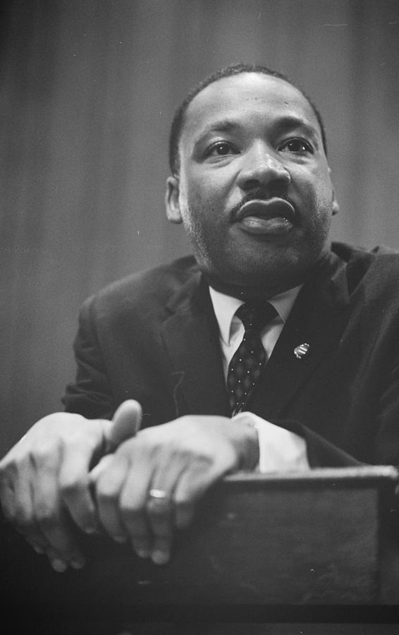 African; American; Black King; Southern; Leadership; Baptist; Civil; Rights; Leader; 1964 Photograph - Martin Luther King Press Conference 1964 by Anonymous