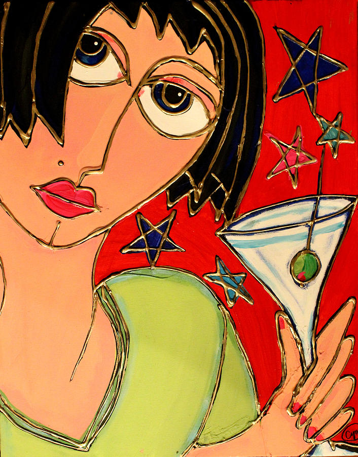 Martini Night Painting  - Martini Night Fine Art Print