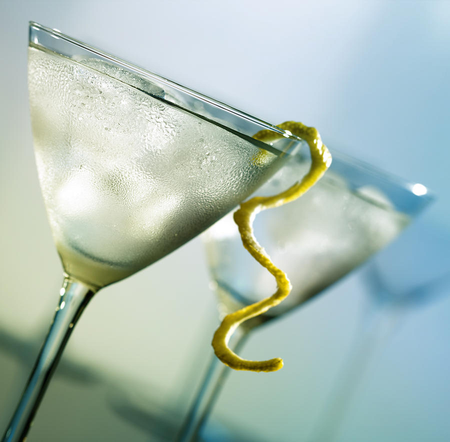 Martini With Lemon Peel Photograph