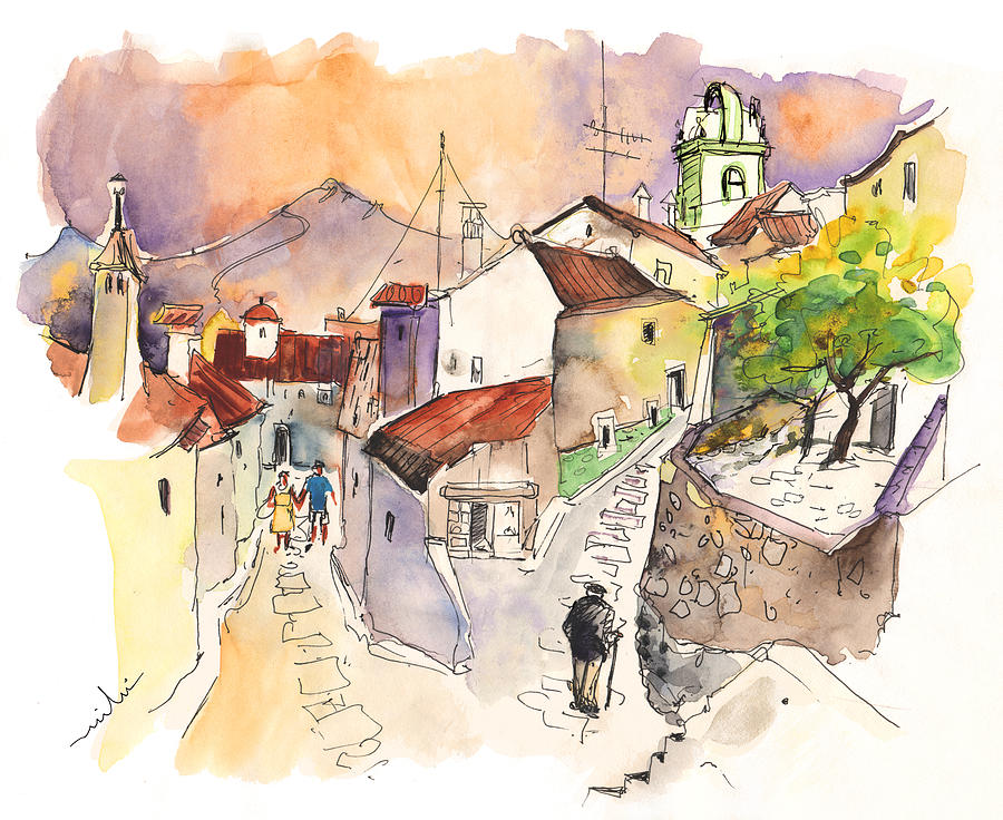 Marvao Portugal  City pictures : Portugal Painting Marvao In Portugal 03 by Miki De Goodaboom