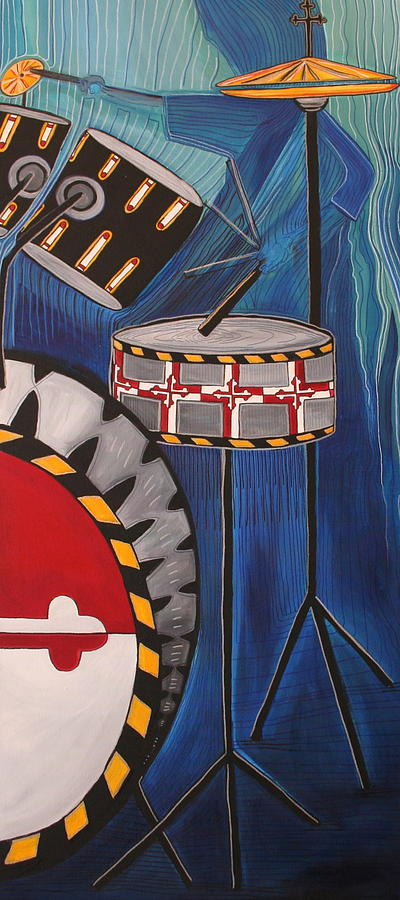 Maryland Drums Painting  - Maryland Drums Fine Art Print