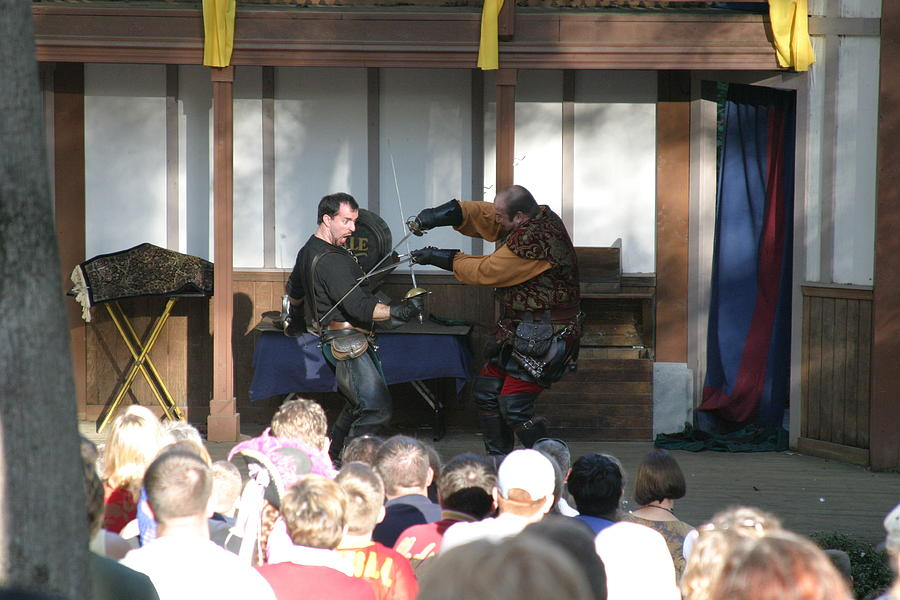 Maryland Renaissance Festival - Hack And Slash - 12129 Photograph  - Maryland Renaissance Festival - Hack And Slash - 12129 Fine Art Print