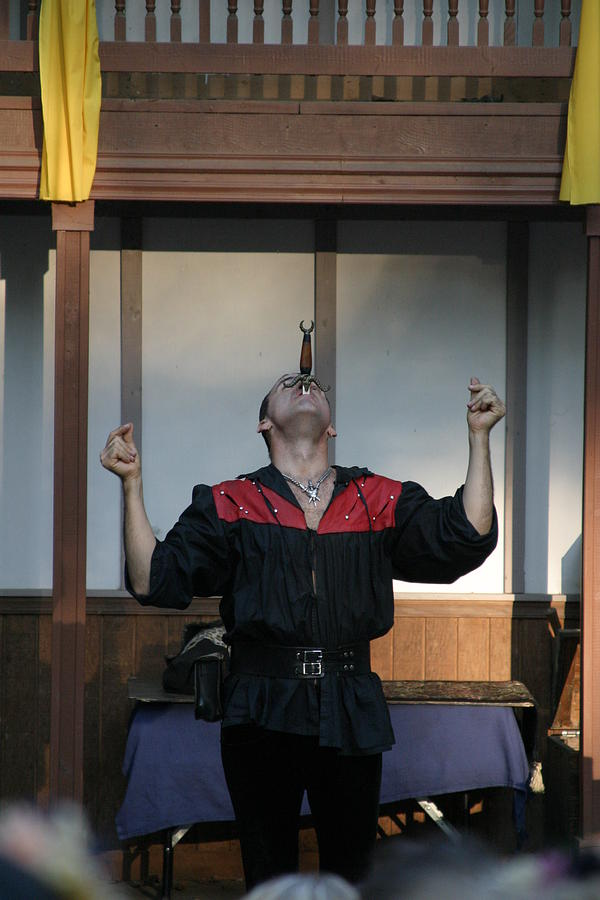 Maryland Renaissance Festival - Johnny Fox Sword Swallower - 1212117 Photograph