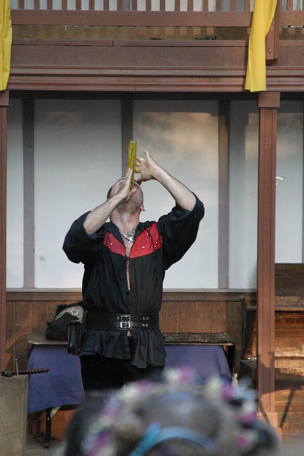 Maryland Renaissance Festival - Johnny Fox Sword Swallower - 1212125 Photograph  - Maryland Renaissance Festival - Johnny Fox Sword Swallower - 1212125 Fine Art Print