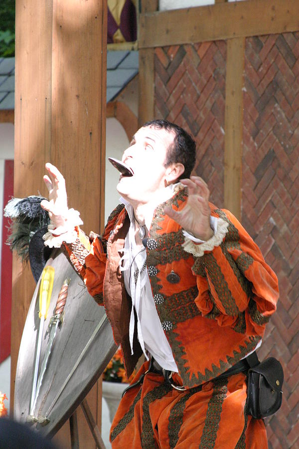 Maryland Renaissance Festival - Johnny Fox Sword Swallower - 121221 Photograph