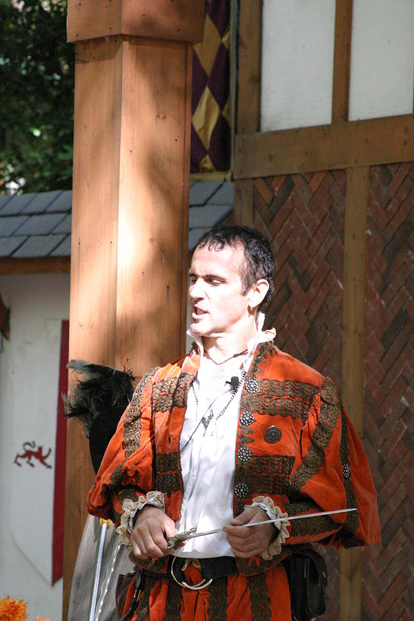 Maryland Renaissance Festival - Johnny Fox Sword Swallower - 121228 Photograph