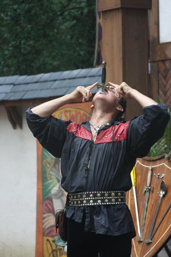 Maryland Renaissance Festival - Johnny Fox Sword Swallower - 121263 Photograph