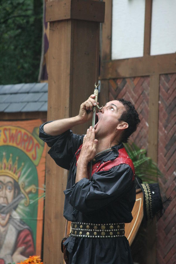 Maryland Renaissance Festival - Johnny Fox Sword Swallower - 121267 Photograph  - Maryland Renaissance Festival - Johnny Fox Sword Swallower - 121267 Fine Art Print