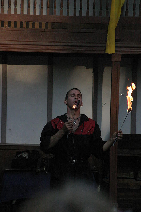 Maryland Renaissance Festival - Johnny Fox Sword Swallower - 121299 Photograph