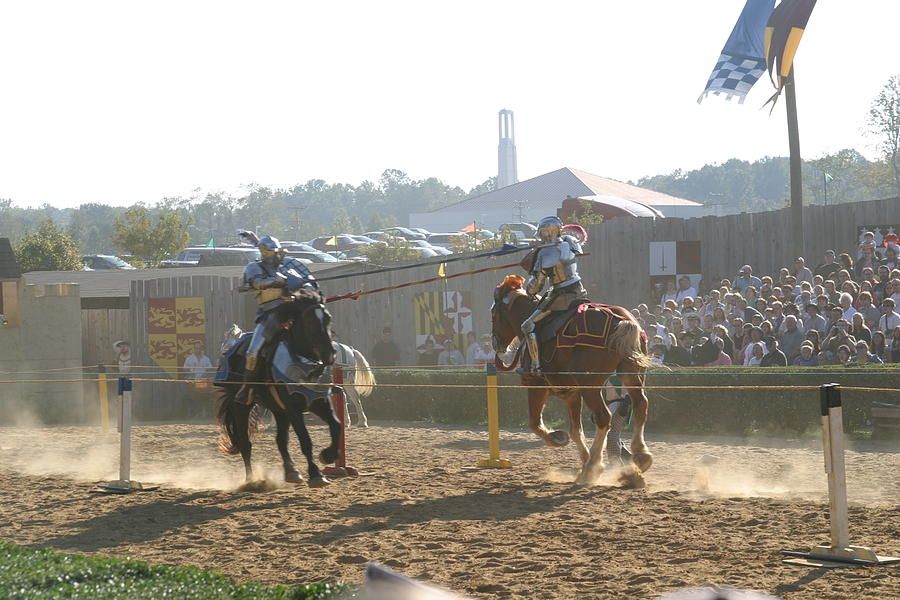 Maryland Renaissance Festival - Jousting And Sword Fighting - 1212192 Photograph  - Maryland Renaissance Festival - Jousting And Sword Fighting - 1212192 Fine Art Print
