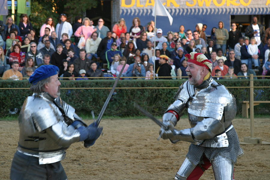 Maryland Renaissance Festival - Jousting And Sword Fighting - 121241 Photograph