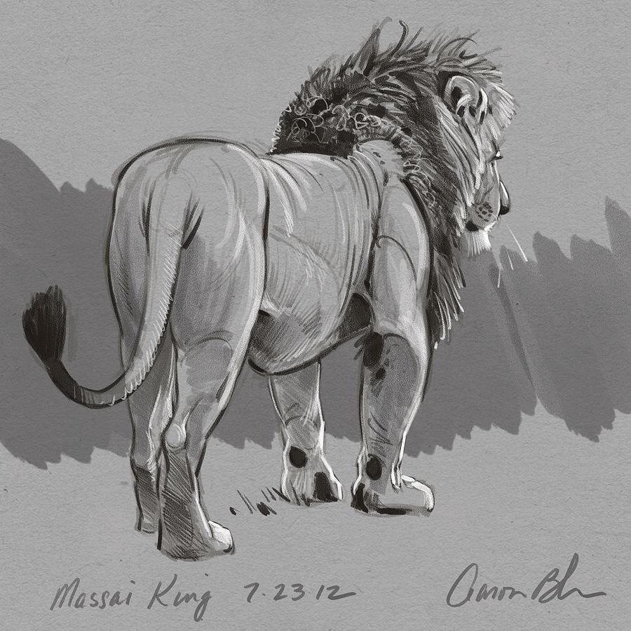 Masai King Digital Art