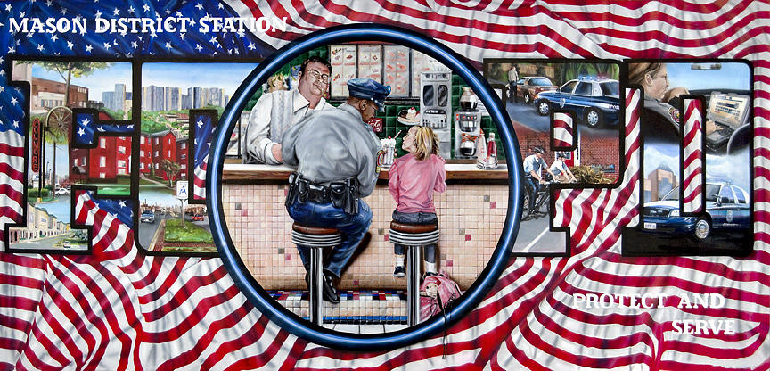Serving Northern Virgnia And Southampton Ny As A Faux Finisher And Muralist. Protect And Serve Painting - Mason Mural by John Kiernan