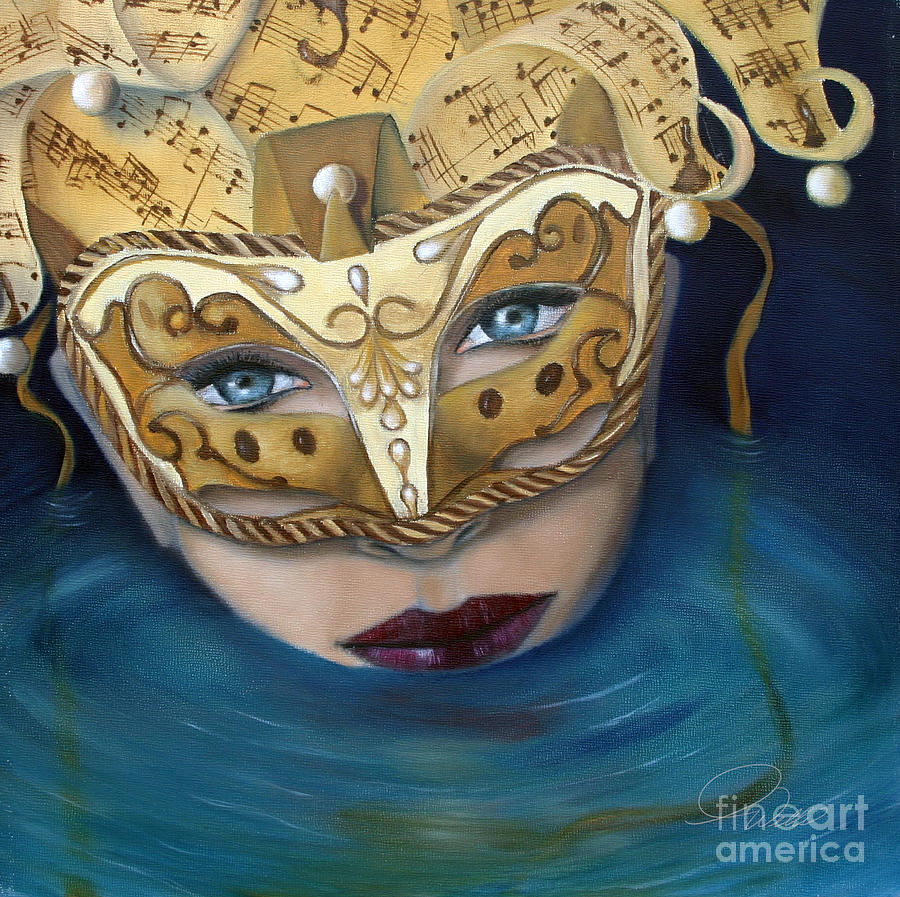 Masquemermaid Painting  - Masquemermaid Fine Art Print