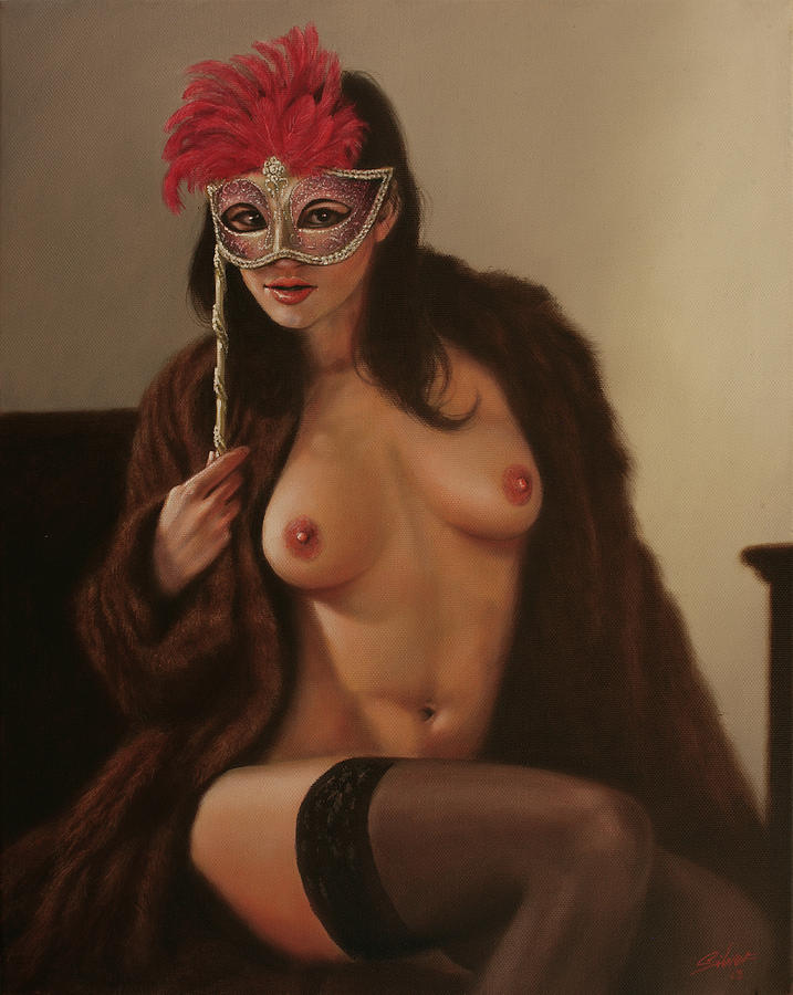 Paintings Painting - Masquerade IIi by John Silver