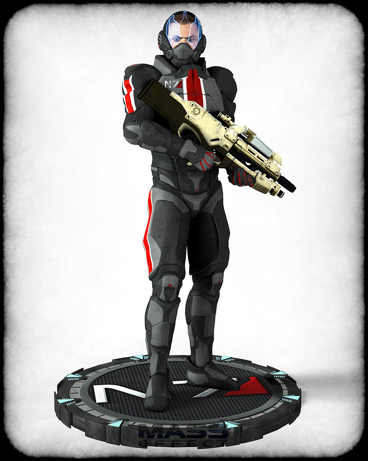 Mass Effect - N7 Soldier Digital Art  - Mass Effect - N7 Soldier Fine Art Print