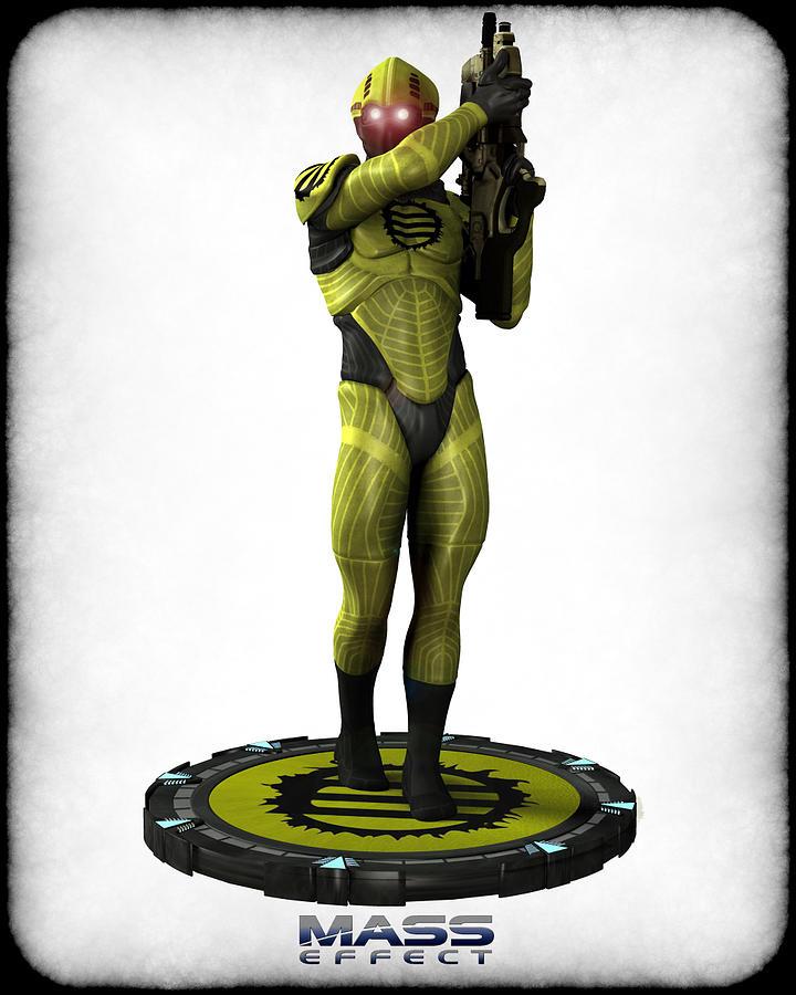 Mass Effect - Eclipse Soldier Digital Art