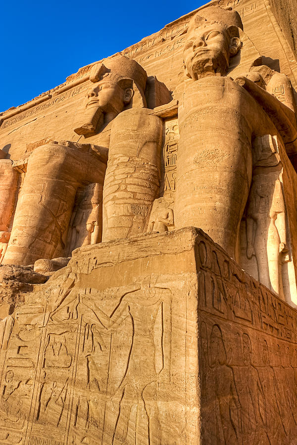 Massive Statues Of Ramses The Great At Abu Simbel Photograph