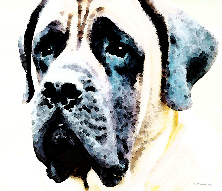 Mastiff Painting - Mastif Dog Art - Misunderstood by Sharon Cummings