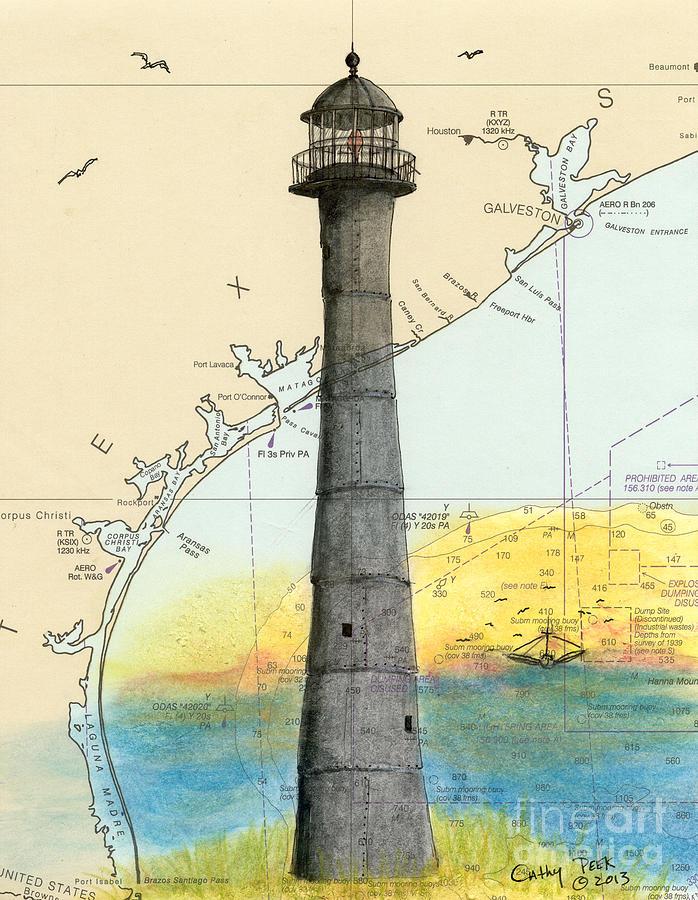 Matagorda Island Lighthouse Map