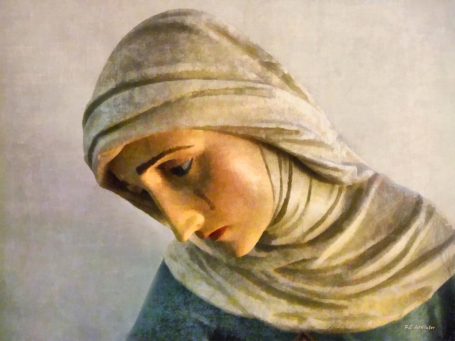 Mary Painting - Mater Dolorosa by RC DeWinter