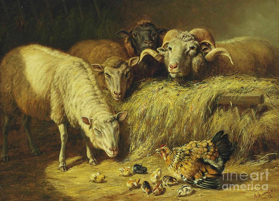 Pd Painting - Maternal Solicitude by Pg Reproductions
