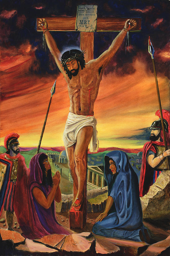 Jesus Painting - Mathew Xxvii  Liv by Lawrence Childress