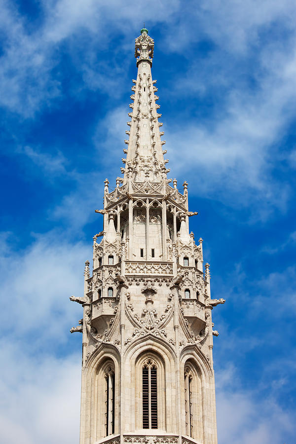Matthias Church Bell Tower In Budapest Photograph  - Matthias Church Bell Tower In Budapest Fine Art Print