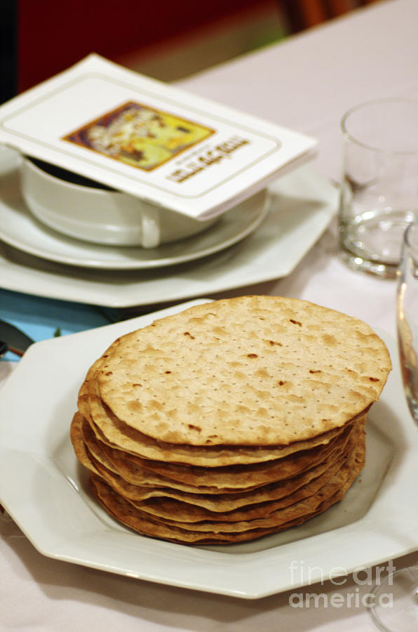 Matza And Haggada For Pesach Photograph