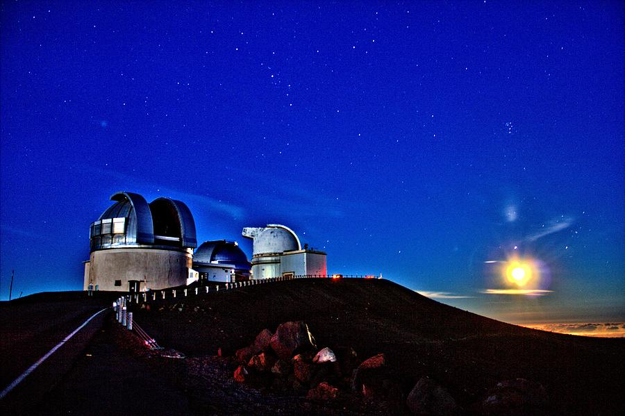 Mauna Kea At Moon Rise Photograph  - Mauna Kea At Moon Rise Fine Art Print