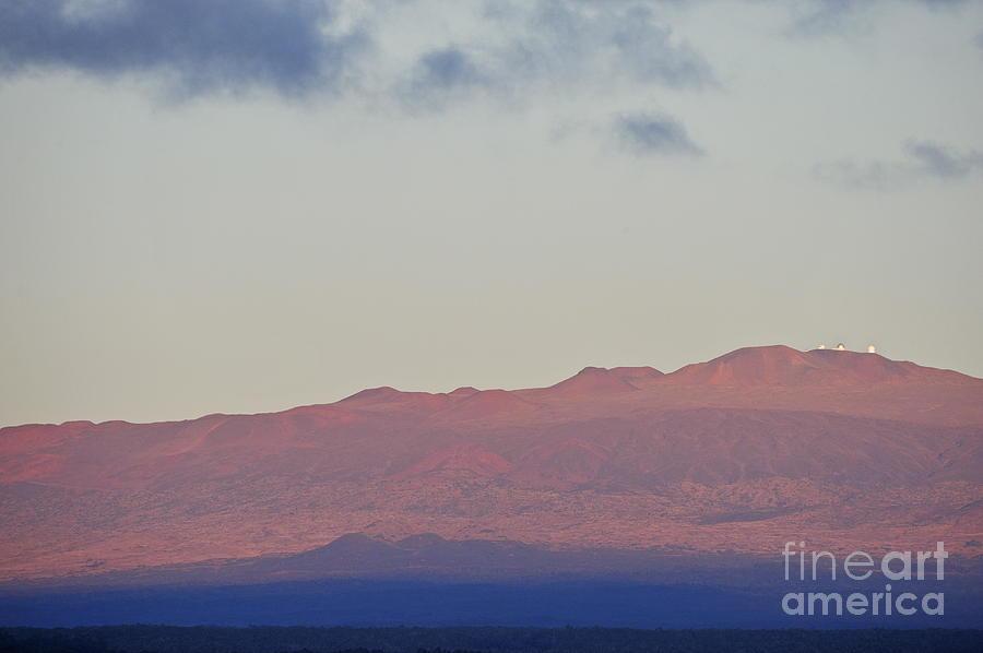 Mauna Kea Volcano At Sunrise From Hilo Photograph