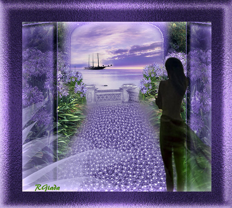 Mauve Waiting Digital Art