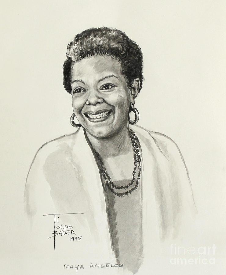 Maya Angelou Painting Canvas
