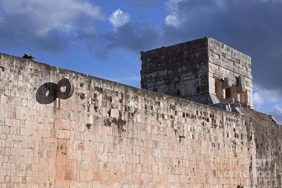Mayan Ball Court Photograph