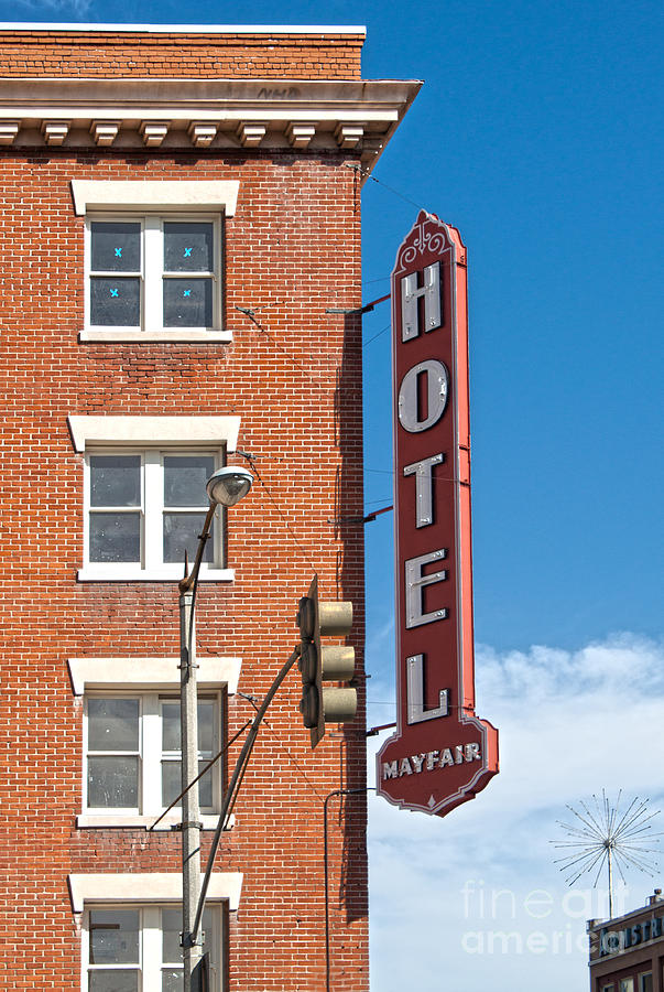 Mayfair Hotel - Pomona California Photograph  - Mayfair Hotel - Pomona California Fine Art Print