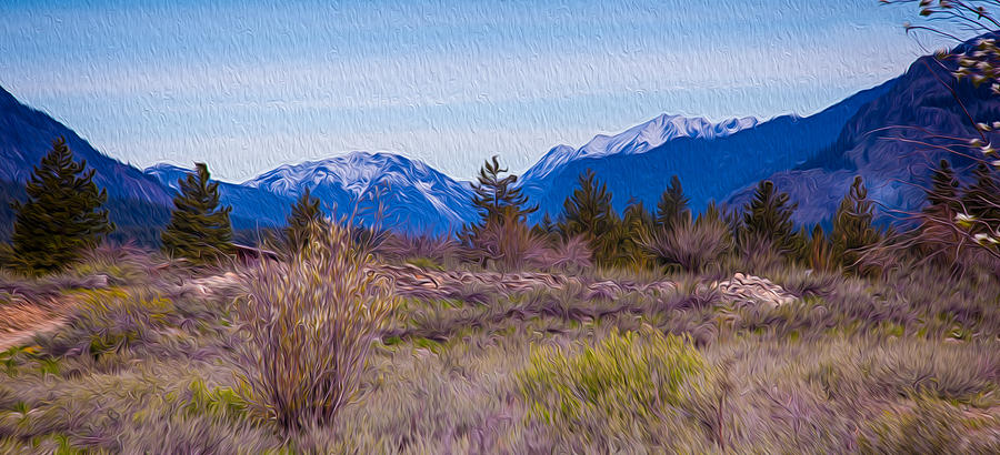 Mazama From Wolf Creek Painting