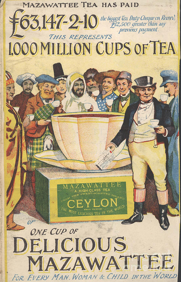 Mazawattee 1890s Uk John Bull Tea Drawing  - Mazawattee 1890s Uk John Bull Tea Fine Art Print