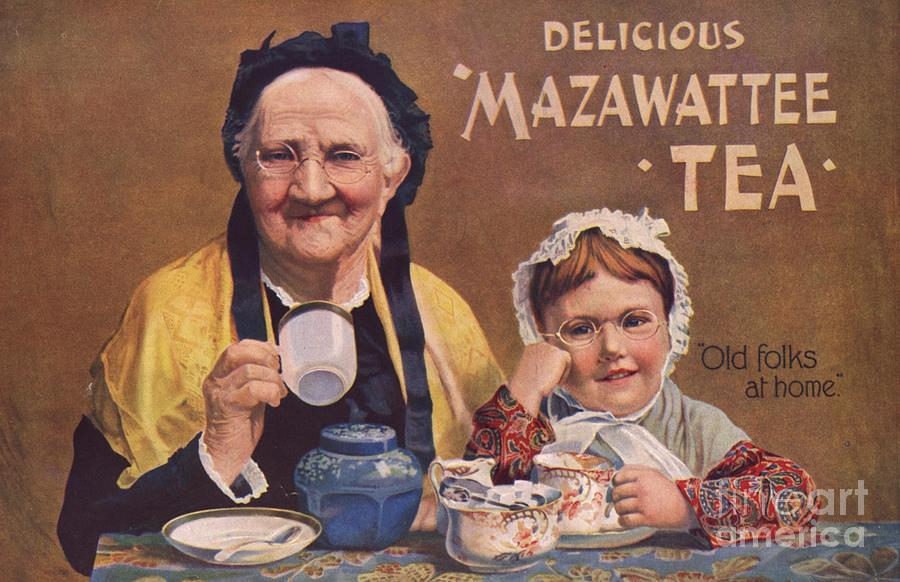 Mazawattee 1890s Uk Tea Drawing  - Mazawattee 1890s Uk Tea Fine Art Print