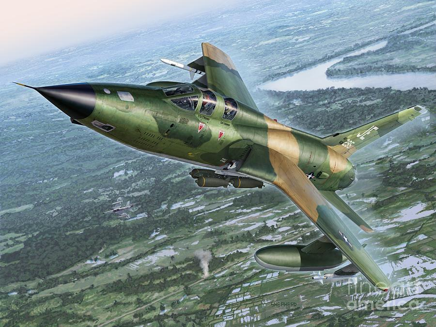 F-105 Thunderchief Digital Art - Mc Inerneys Thud by Stu Shepherd