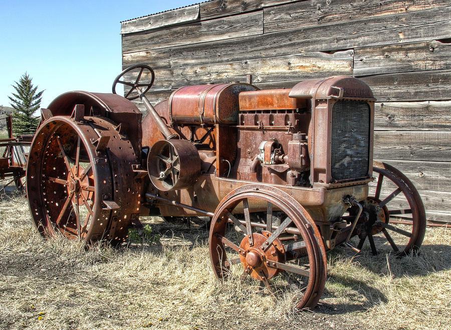 Mccormick-deering Hand-crank Start Tractor Photograph