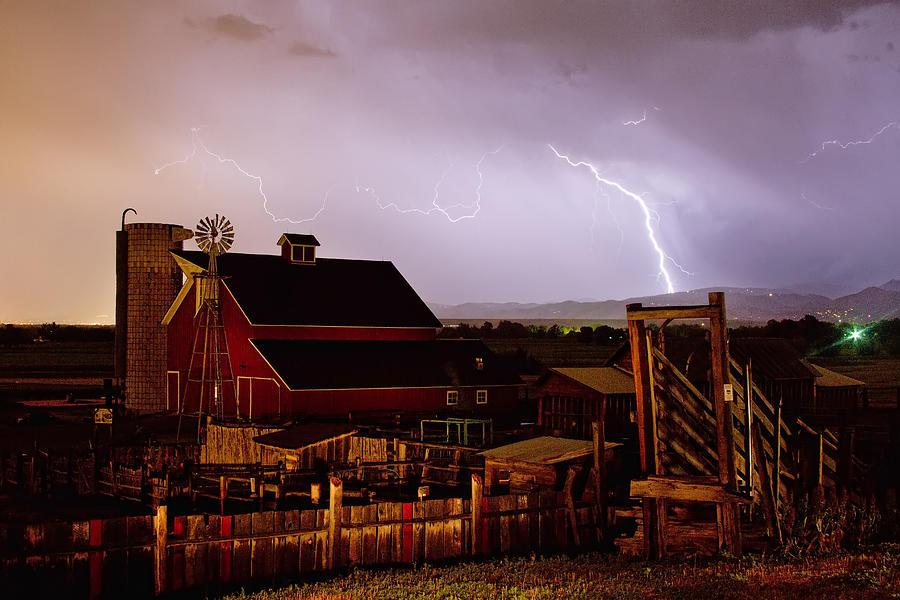 Mcintosh Farm Lightning Thunderstorm Photograph  - Mcintosh Farm Lightning Thunderstorm Fine Art Print