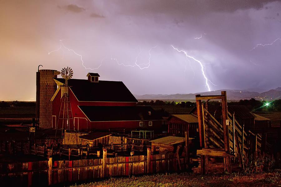 Mcintosh Farm Lightning Thunderstorm Photograph