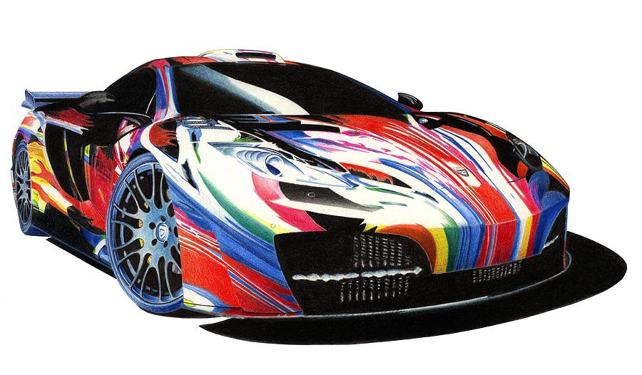 Mclaren Art Car Mixed Media  - Mclaren Art Car Fine Art Print