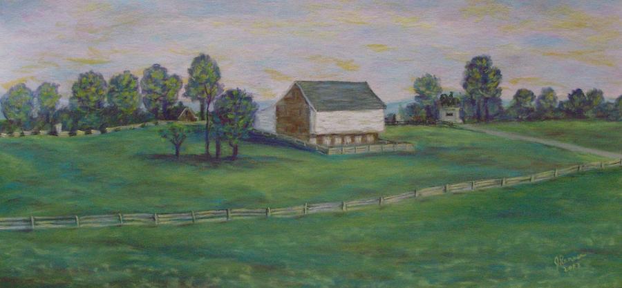 Mcphersons Barn Gettysburg Pastel