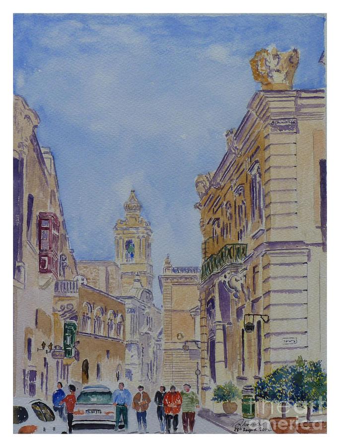 Mdina Malta Painting