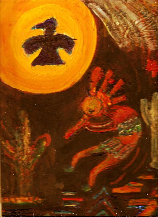 Kokopelli Painting - Me Alegra Que Te Gusta Mi Kokopelli by Anne-Elizabeth Whiteway