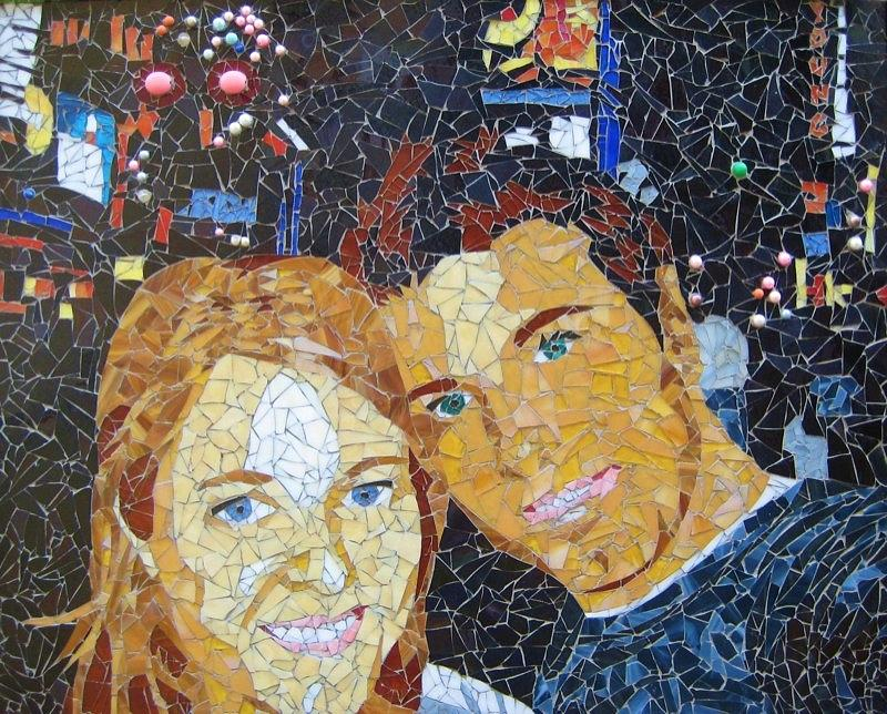 Me And Santi In Times Square Mixed Media